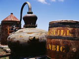 Old Barrel and Storage Tank  Saint Martin  Caribbean