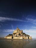 View of Mont Saint-Michel  Normandy  France