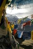 Prayer Flags on Summit of Gokyo Ri, Everest Region, Mt Everest, Nepal Papier Photo par David Noyes