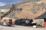 Old Steam Locomotive  Gold Hill Train Station  Virginia City  Nevada  USA