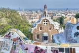 Park Guell Terrace  Barcelona  Spain