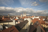 Roof Top View of Old Town Regensburg  Germany