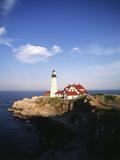 View of Lighthouse  Cape Elizabeth  Portland  Maine  USA