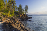 Flathead Lake  Sunrise Light at West Shore State Park Near Lakeside  Montana  USA