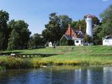 View of Lake Huron and Port Sanilac Lighthouse  Michigan  USA