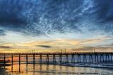 Sunset Beach Pier at Sunrise  North Carolina  USA