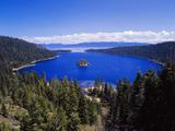 View of Emerald Bay in Lake Tahoe  California  USA