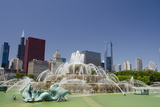 Grant Park  Chicago's Magnificent Mile Skyline  Chicago  Illinois