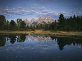 Teton Range and Snake River  Grand Teton National Park  Wyoming  USA
