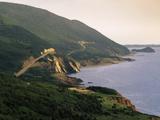 Cabot Trail Along Coastline  Cape Rouge  Cape Breton  Nova Scotia  Canada