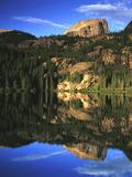 Hallett Peak in Bear Lake  Rocky Mountains National Park  Colorado  USA