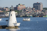 Fishing Boats  Palmer Island Lighthouse  New Bedford Harbor  Massachusetts  USA