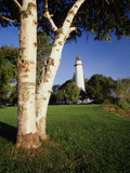 View of Ponte Aux Barques Lighthouse  Michigan  USA