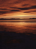 Farmington Bay  Great Salt Lake  Antelope Island  Stansbury Island  Great Basin  Utah  USA