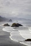 Cannon Beach and Haystack Rock, Crescent Beach, Ecola State Park, Oregon, USA Papier Photo par Jamie & Judy Wild