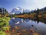 Mt Shuksan with Picture Lake  Mt Baker National Recreation Area  Washington  USA