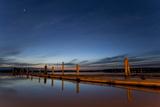 Docks at Dusk  10th Street Marina Park at the Port of Everett  Washington  USA