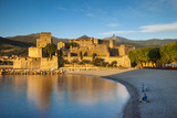 Fishing  Royal Castle  Collioure  Pyrenees-Orientales  Languedoc-Roussillon France