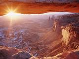 View of Mesa Arch at Sunrise  Canyonlands National Park  Utah  USA