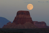 Harvest Moon over Tower Butte  Glen Canyon National Recreation Area  Page  Arizona