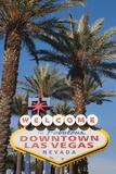 Welcome to Downtown Las Vegas Sign  Las Vegas  Nevada  USA