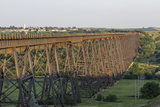 The High Line Railroad Bridge Trestle in Valley City  North Dakota  USA