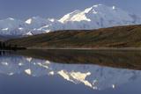 Mount McKinley  Wonder Lake  Sunrise  Denali National Park  Alaska  USA