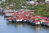 Aerial View of Houses on Stilts Along the Waterfront  Cebu City  Philippines