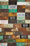 Building with License Plate Siding  Crested Butte  Colorado  USA