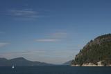 Sailboat and Islands  San Juan Islands  Washington  USA