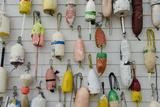 Colorful Fishing Floats  Block Island  Rhode Island  USA