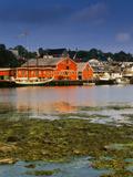 Atlantic Fisheries Museum and Lunenburg Harbor  Lunenburg  Nova Scotia  Canada