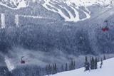 Skiing Gondola  Whistler to Blackcomb  British Columbia  Canada