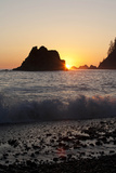 Sea Stacks and Pacific Ocean  Second Beach  Olympic National Park  Washington  USA