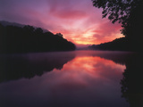Steaming Kentucky River at Sunrise  Kentucky  USA