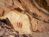 Ancient Pictographs in Horseshoe Canyon  Canyonlands National Park  Utah  USA