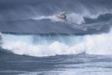 Windsurfing on the Ocean at Sunset  Maui  Hawaii  USA