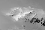Clouds Wrapped Summit of Mount Rainier  Mt Rainier National Park  Washington  USA