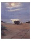 Boats in Moonlight at South Beach Giclée premium par Anna Kirstine Ancher