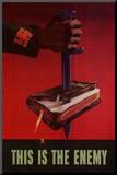 This is the Enemy Anti-Nazi WWII War Propaganda Art Print Poster