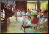 Edgar Germain Hilaire Degas (Ballet School) Art Poster Print