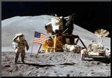 Moon Landing Salute Archival Photo Poster Print