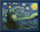 Vincent Van Gogh (Starry Night) Art Print Poster Reproduction montée