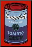 Campbell's Soup Can, 1965 (Blue and Purple) Reproduction montée par Andy Warhol