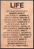 Mother Teresa Life Quote Poster Reproduction montée