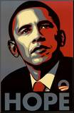Barack Obama (Hope, Shepard Fairey Campaign) Art Poster Print Reproduction montée