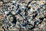 Argent sur noir, silver on black Reproduction montée par Jackson Pollock