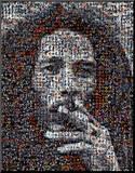 Bob Marley, mosaïque Reproduction montée