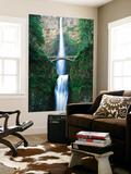 View of Multnomah Falls in Columbia Gorge  Oregon  USA