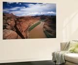 Colorado River Passing Through Canyon  Canyonlands National Park  Utah  USA